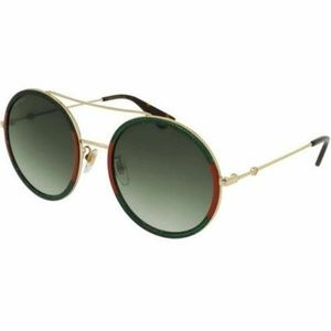 Gucci Round Style Sunglasses W/Green Gradient Lens